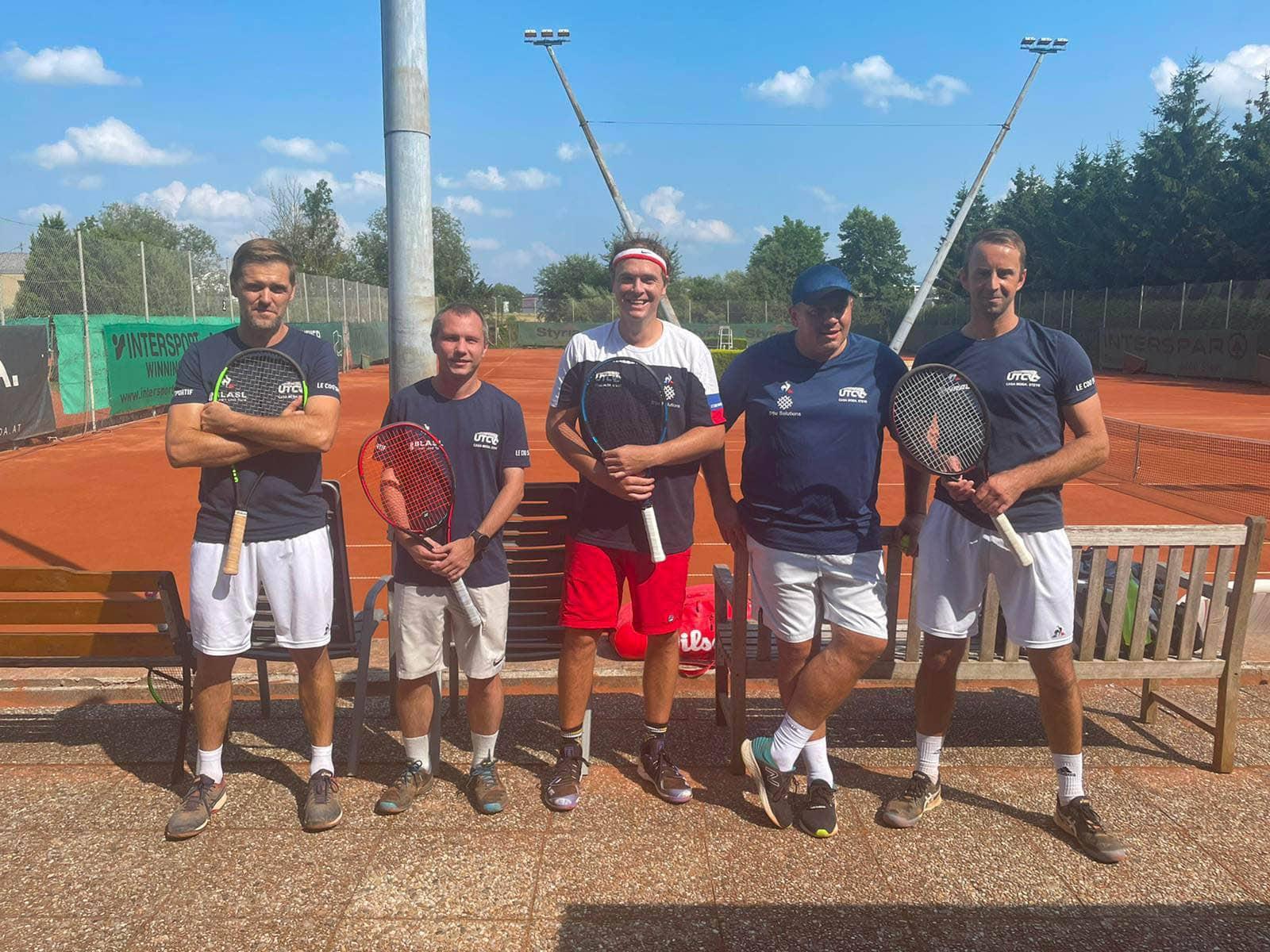 Tennis Herren 35 1er Mannschaftsfoto UTC CASA MODA Steyr