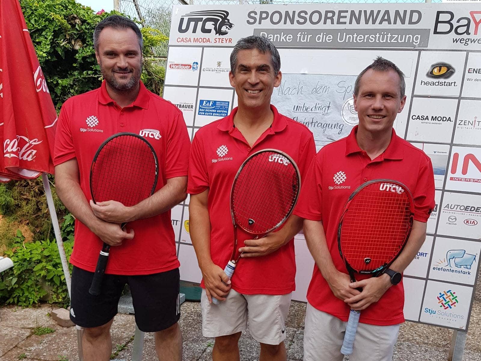 Tennis Herren 35 2er Mannschaftsfoto UTC CASA MODA Steyr