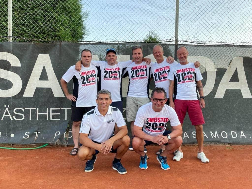 Tennis Herren 45 Mannschaftsfoto UTC CASA MODA Steyr